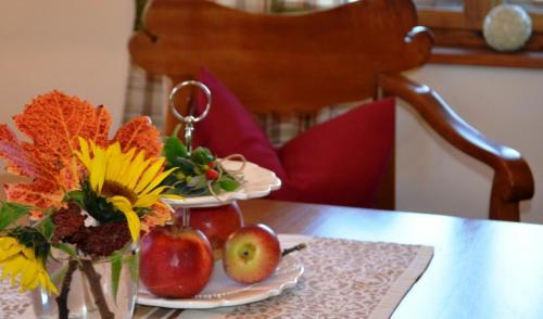 Ein kleiner Willkommensgruß für unsere Gäste des Ferienhauses Bürgerhaus am Knappenhof Eichberg in den südsteirischen Weinbergen