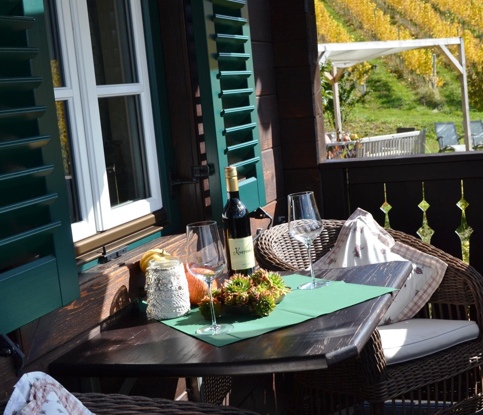 Balkon Ferienhaus Gamlitz