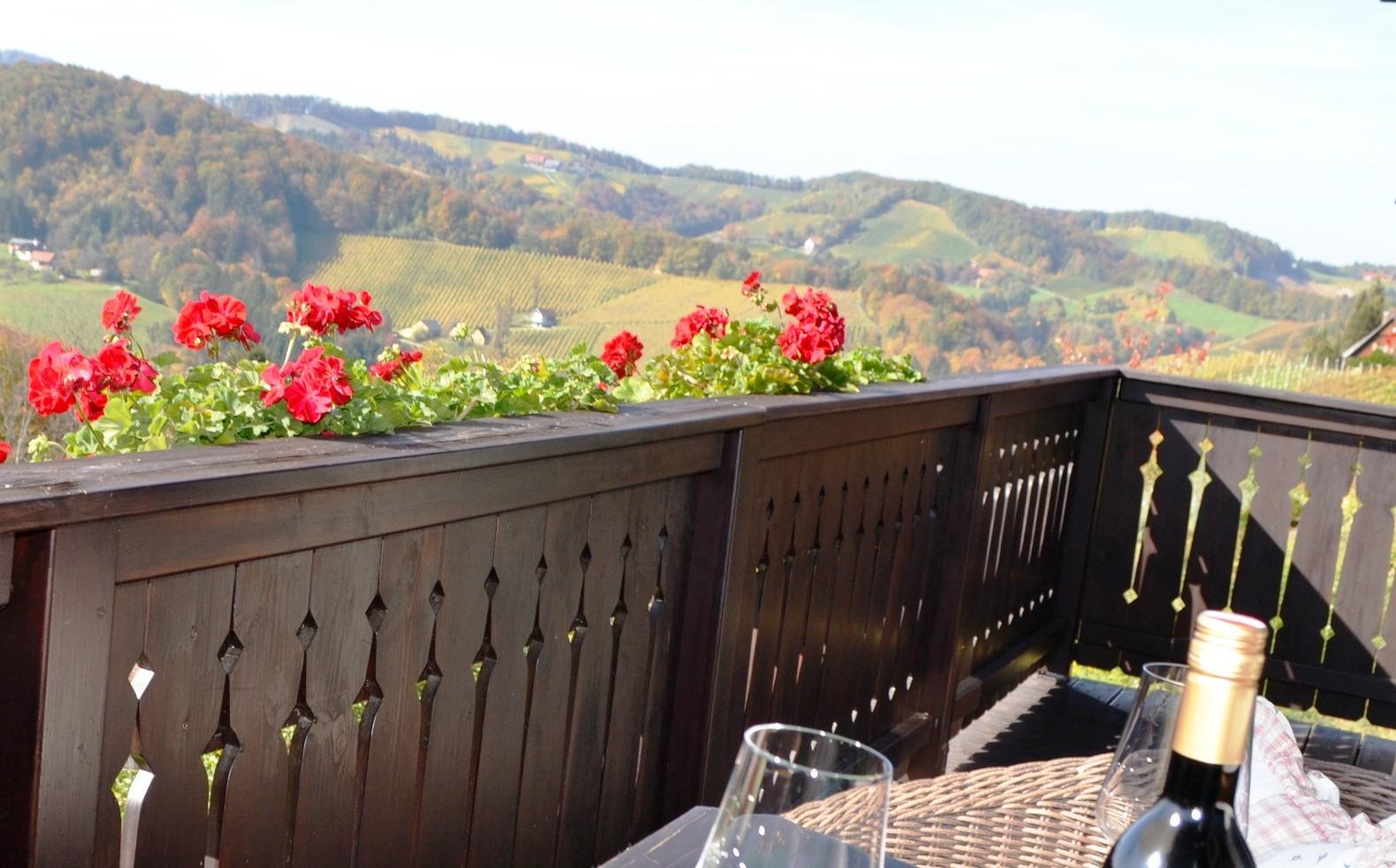 Balkon Ferienwohnung Südsteiermark