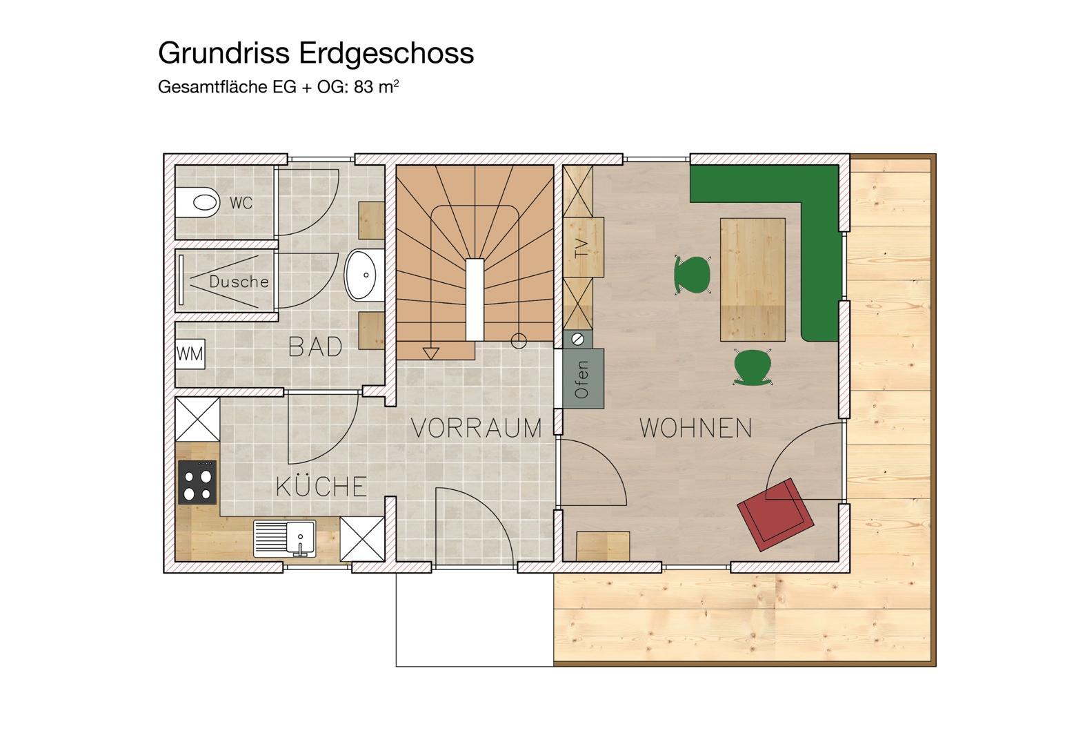 Grundriss Ferienhaus Gamlitz