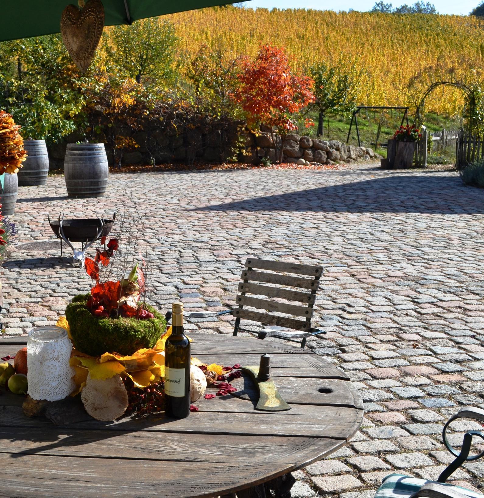 Bunt Herbststimmung am Knappenhof Gamlitz in der schönen Südsteiermark