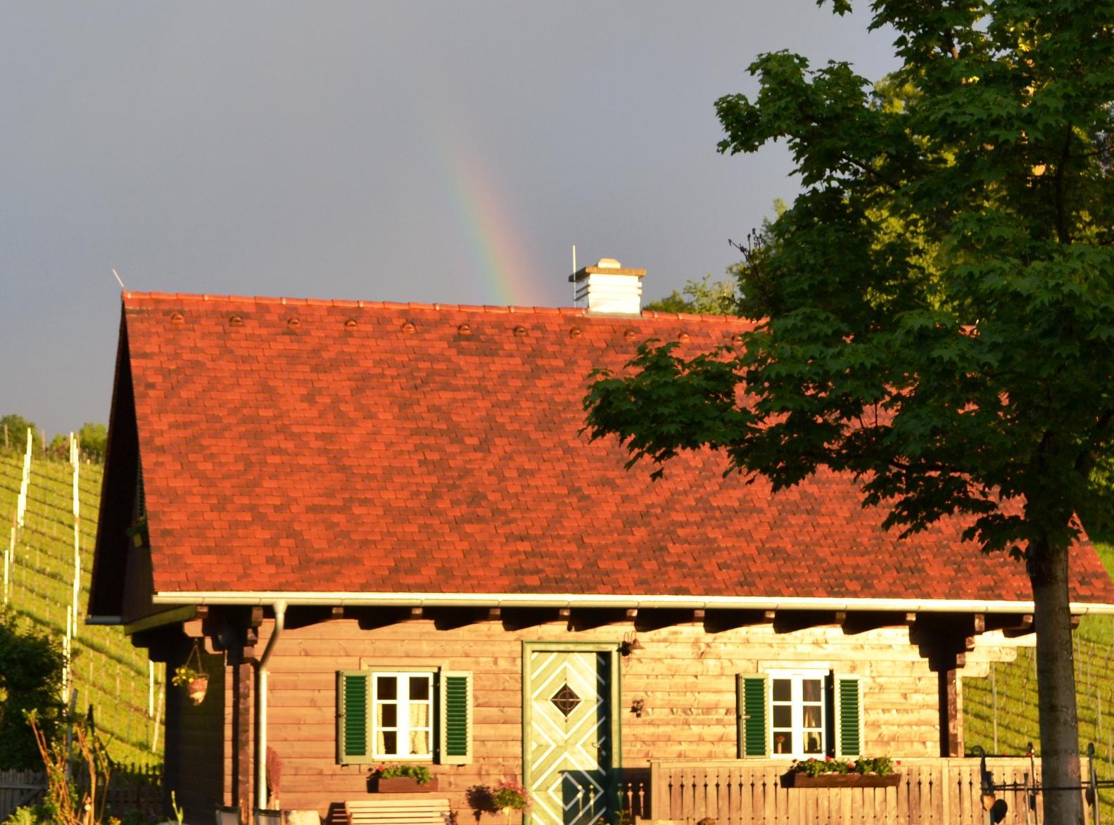 und am Ende des Regenbogens findest Du.... das Ferienhaus am Knappenhof in Gamlitz in der schönen Südsteiermark